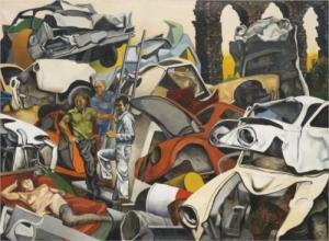 Tre punëtorë dhe një prostitutë - Renato Guttuso, 1979