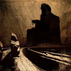 Frantisek Kupka - The Black Idol Resistance, 1903