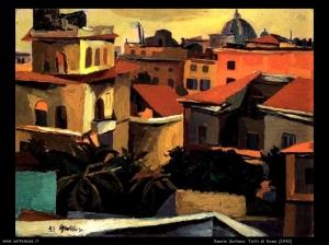 Çatitë e Romës, 1942, Renato Guttuso.