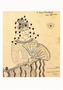 Dama në ballkon, F.Garcia Lorca, 1927