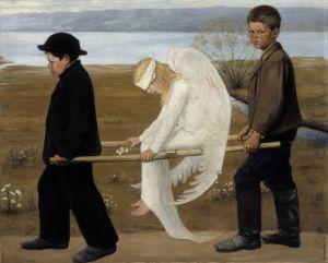 Hugo Simberg - Engjëlli i plagosur