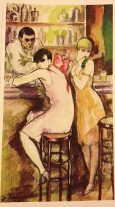 Jeanne Mammen - Në bar, 1926