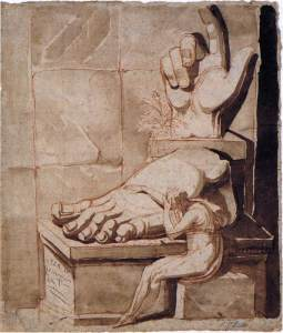 Artisti i dëshpëruar përballë përmasave të rrënojave antike - Johann Heinrich Fuseli
