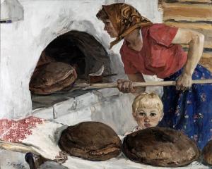 E. Kozlov - Pjekja e bukës, 1967