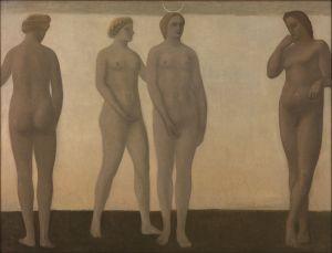 Vilhelm Hammershoi - Artemis, 1893