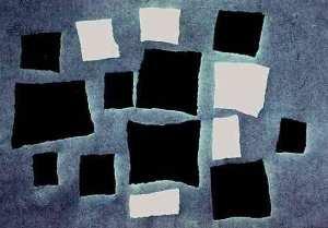Jean Hans Arp - Kolazh me katrorë të sërënditur sipas Ligjeve të Rastësisë, 1917