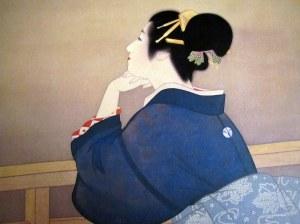 Shoen Uemura - Grua tek pret hënën të lindë, 1944
