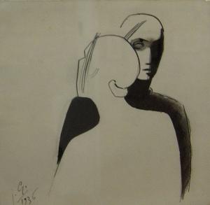 Julio Gonzalez i Pellicer - Vizatim, 1936