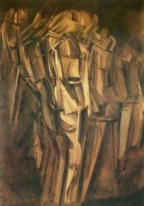 Marcel Duchamp - Riosh i trishtuar në një tren, 1911